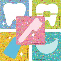 Dental Icon Silhouette Stickers