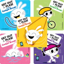 Get out and Play Stickers
