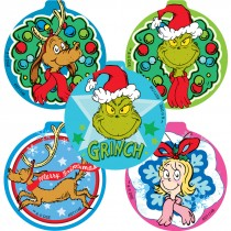 Shaped How the Grinch Stole Christmas Stickers