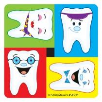 Happy Teeth Mini Dot Stickers