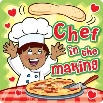 Chef in the Making Stickers