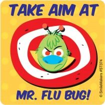 Mr. Flu Bug Stickers