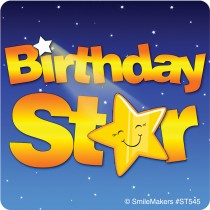 Birthday Star Sticker