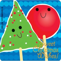 Scented Sweet Christmas Peppermint Stickers
