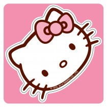 Hello Kitty Shaped Stickers