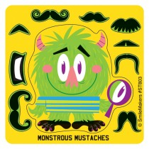 Make-Your-Own Monstrous Moustache Stickers