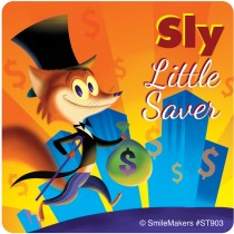 Foxy Little Saver Stickers
