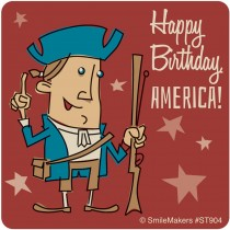 Happy Birthday America Stickers