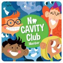 No Cavity Club Stickers