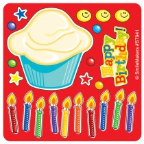 Make Your Own Happy Birthday Cupcake Stickers