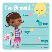 Doc McStuffins I've Grown Stickers
