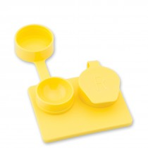 Yellow Smooth Well Contact Lens Cases