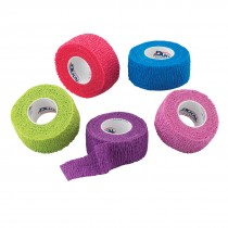 "1"" Assorted Color Cohesive Bandage Wrap Rolls"