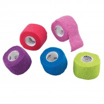 "1 1/2"" Assorted Color Cohesive Bandage Wrap Rolls"