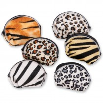 Safari Plush Coin Purses