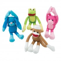 Plush Long Arm Sock Monkey & Friends