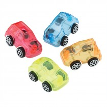 Mini Clear Free Wheel Cars