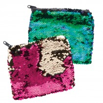Reversible Sequins Large Pouches