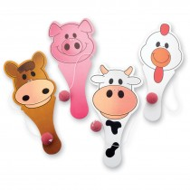 Farm Animal Paddleballs