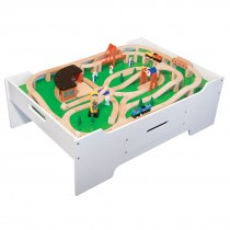 Wooden Train Set & Activity Table