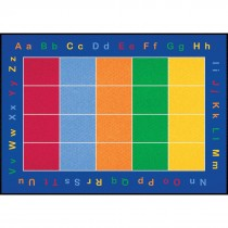 Rectangular ABC Squares Rug