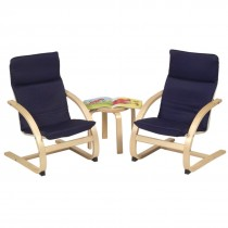 Kiddie Rocker Chair and Table Set (Blue)