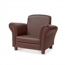 Child's Dark Brown Faux Leather Armchair