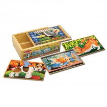 Pets Wooden Jigsaw Puzzles in a Box