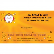 Keep Your Smile in Tune Appointment Cards