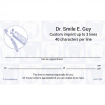 Scatter Tooth Appointment Cards
