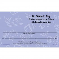 Brush, Floss, Smile Appointment Cards