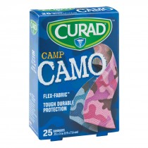 Curad® Pink/Blue Fabric Camo Bandages