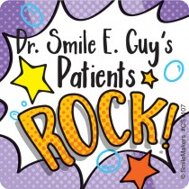 100 Custom Patients Rock Stickers