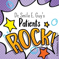 100 Custom Patients Rock Stickers