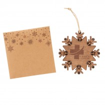 Custom Snowflake Wooden Ornaments