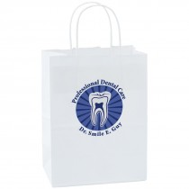 Custom White Paper Bags - Medium