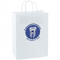 Custom White Paper Bags - Large