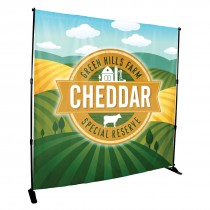 6' x 8' Full Color Backdrop Banner - No Kit