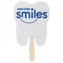 Custom Tooth Hand Fans - One Color