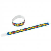 Smiley Face Adhesive Wristbands