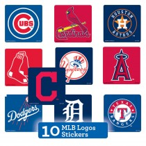 MLB Logo Sticker Sampler