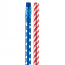 Glitter USA Flag Pencils