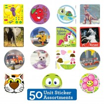 50 Unit Sticker Sampler