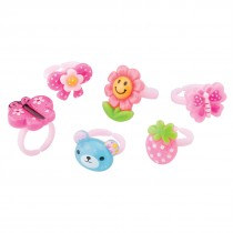 Cute Plastic Rings