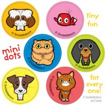 Playful Pets Mini Dot Stickers