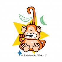 Brush Floss Smile Monkey Temporary Tattoos