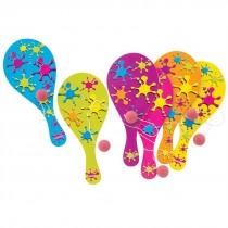 Neon Paint Paddleballs