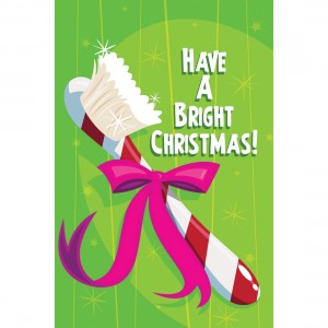 Bright Christmas Toothbrush Greeting Cards