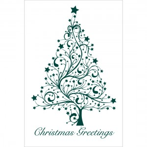 Christmas Greetings Tree Greeting Cards