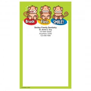 Brush Floss Smile Monkey Notepads